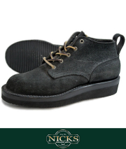 NICKS BOOTS �˥å����֡��� ORIGINAL TOE OXFORD ROUGHOUT BLK��SALE ��20000 off��