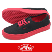 VANS �� AUTHENTIC (POP OUTSOLE�� BLACK/RACING RED