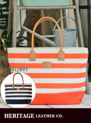 ��HERITAGE LEATHER��  BODER PRINT CANVAS TOTE BAG