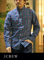 J.CREW ジェイクルー ブロード B.D CHECK SHIRT BLUE/RED/WHITE