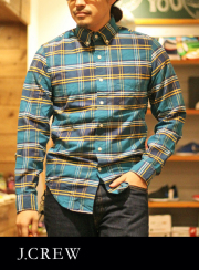 J.CREW ジェイクルー OX FORD B.D CHECK SHIRT BLUE/YELLOW