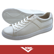 PONY �ݥˡ� TOPSTAR PUNCHING LEATHER WHITE