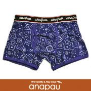 anapau アナパウ ボクサーパンツ バンダナ柄 INK BLUE P-1702