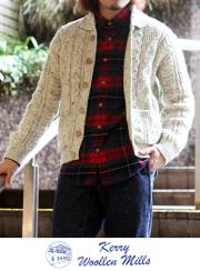 kerry woollen mills ����������ߥ륺 Aran Collar Cardigan