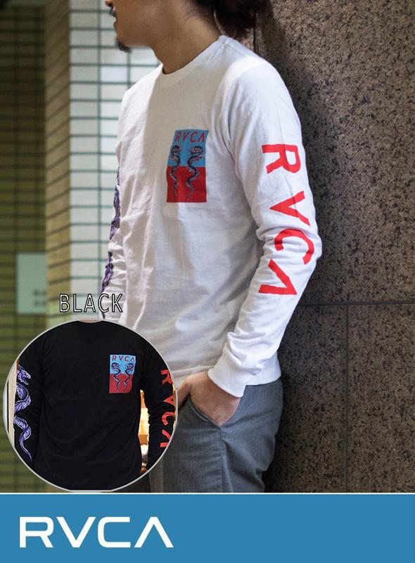 RVCA (ルカ)  SNAKE  L/S  T-SHIRT