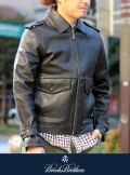 BrooksBrothers SINGLE LEATHER BLOUSON【50% off】
