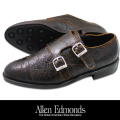 Allen Edmonds DOUBLE MONK CRACKED LEATHER DK.BROWN