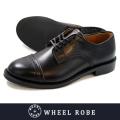 WHEEL ROBE ウィールローブ DRESS TOE CAP OX FORD BLACK