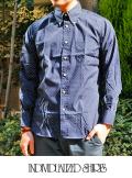INDIVIDUALIZED SHIRTS インディヴィジュアライズドシャツ Polka DOT STANDARD FIT BD SHIRT  NVY/WHT