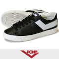 PONY ポニー TOPSTAR LEATHER BLACK/WHITE