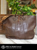 RRL ダブルアールエル LEATHER TOTE BAG  D.BROWN