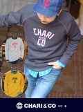 "CHARI&CO チャリアンドコー""College LOGO″ CREW SWEAT"
