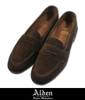 Alden オールデン #6245F UNLINED PENNY LOAFER SUEDE D.BRW