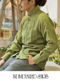 INDIVIDUALIZED SHIRTS インディヴィジュアライズドシャツ  LINEN STANDARD FIT BD SHIRT GREEN