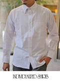 INDIVIDUALIZED SHIRTS インディヴィジュアライズドシャツ SEERSUCKER SHIRTS WHITE