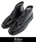 Alden オールデン 4465H  CORDOVAN WING TIP BOOTS BLK