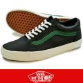 VANS バンズOLD SKOOL (Matte Leather) Black/Verdant Green
