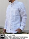 IKE リネンシャツ WHT