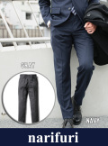 narifuri ナリフリ  Chalk stripe tailored slacks(NF862)