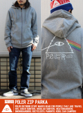 poler ジップパーカー GRY