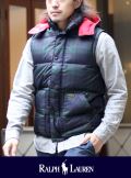 POLO RALPH LAUREN ポロ ラルフローレン BLACK WATCH DOWN VEST