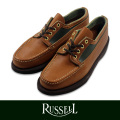 RUSSELL MOCCASIN ラッセルモカシン HURON MOCCASIN TAN/GRN (Paper別注)
