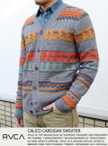 RVCA CALICO CARDIGAN SWEATER