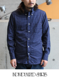 INDIVIDUALIZED SHIRTS インディヴィジュアライズドシャツ POLKA DOT STANDARD FIT BD SHIRT
