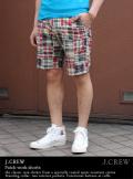 J.CREW ジェイクルー patchwork shorts パッチワークショートパンツ