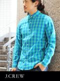 J.CREW ジェイクルー  B.Dブロックチェックシャツ EME/BLU