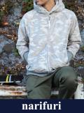 narifuri ナリフリ Camouflage boa zip parka(NF853)