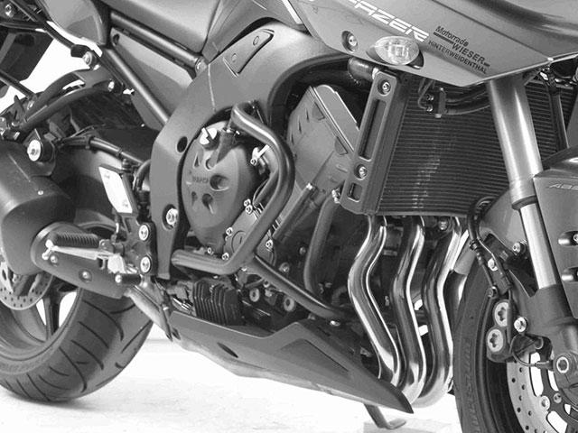 ヘプコ&ベッカー 正規品 エンジンガード ブラック YAMAHA FZ8 Fazer