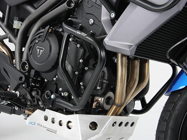 ヘプコ&ベッカー 正規品 エンジンガード (ブラック) Triumph Tiger 800/XC
