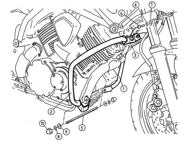 ヘプコ&ベッカー 正規品 エンジンガード YAMAHA BT1100 Bulldog クローム
