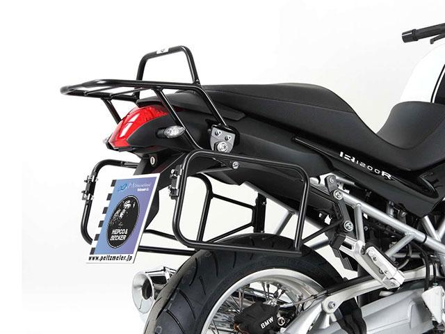 ヘプコ&ベッカー 正規品 BMW R1200R('11-) サイドケースホルダー(キャリア) (Lock it system) ブラック