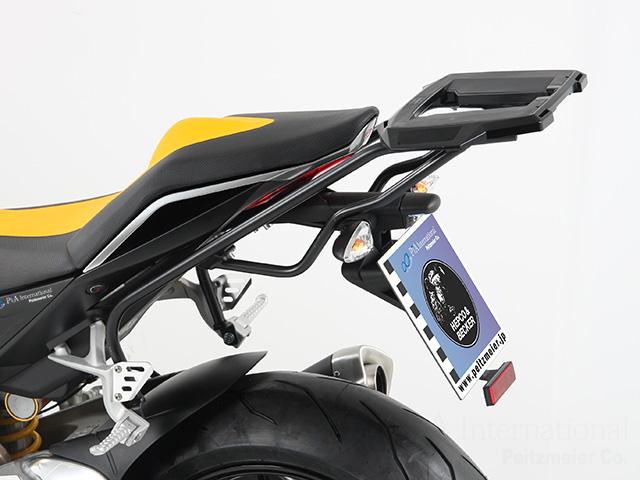 プコ&ベッカー 正規品 aprilia Tuono V4 R トップケースホルダー(キャリア) (アルミラック) ブラック