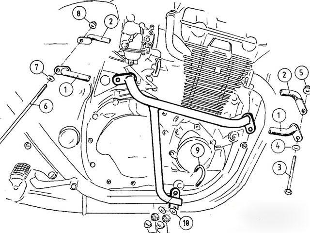 ヘプコ&ベッカー 正規品 エンジンガード HONDA CB1300 (-'02) ブラック