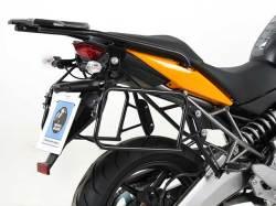 ヘプコ&ベッカー 正規品 Kawasaki Versys ('10-) サイドケースホルダー(キャリア)(Lock it system) ブラック