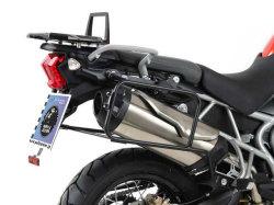 ヘプコ&ベッカー 正規品 トップケースホルダー(キャリア) (アルミラック)ブラック Triumph Tiger 800/XC