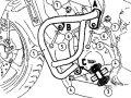 ヘプコ&ベッカー 正規品 エンジンガード YAMAHA FZ6 Fazer ブラック