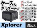 ヘプコ&ベッカー トップケース サイドケース右40/左40 ホルダーセット Xplorer ブラック