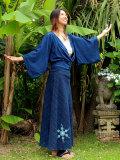 asana 手織りHEMPバイアススカート・草木染め手刺繍