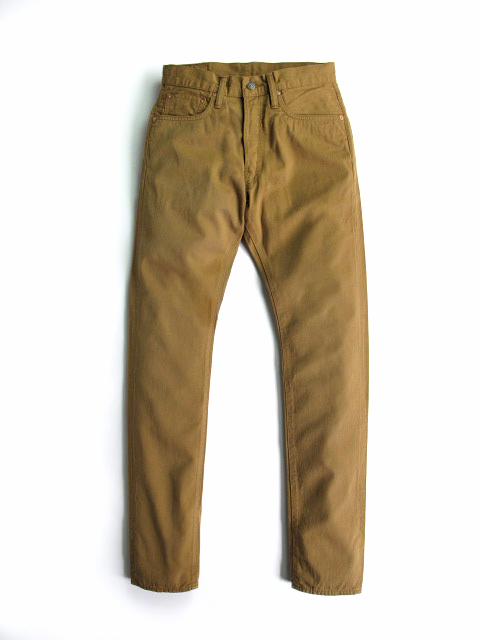[1139] Selvedge Chino 5-pocket Pants (Camel)
