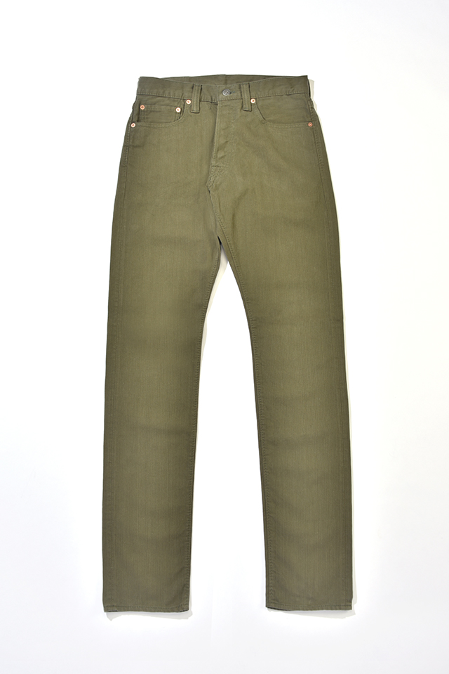 [1155 C/#2] Yarn Dyed Pique Relaxed Tapered (Olive)
