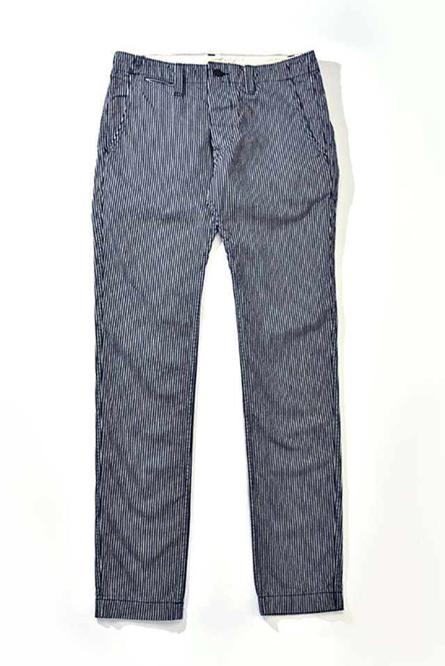 [1162 C/#2] Curved Pockets Trousers (Hickory)