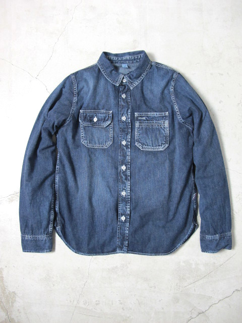 [2186] 6oz. Hand Distressed Work Shirt