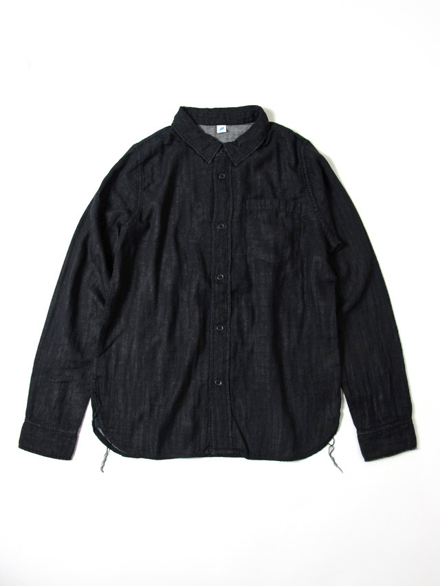 [2199-BK] Double Gauze Shirt (Black)