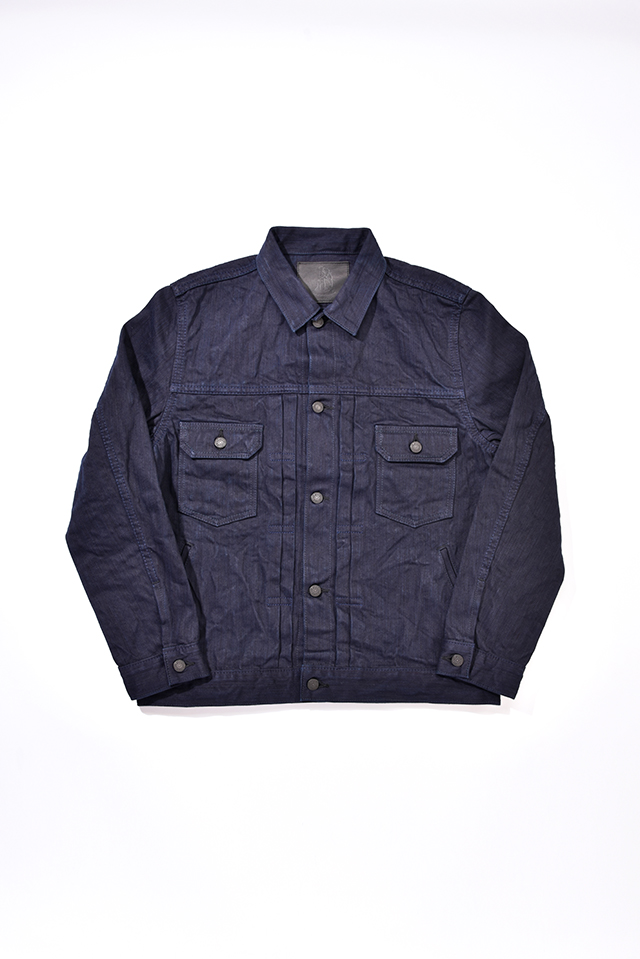 [6081] 17.5oz Double Natural Indigo Hand Dyed Denim Type II Jacket