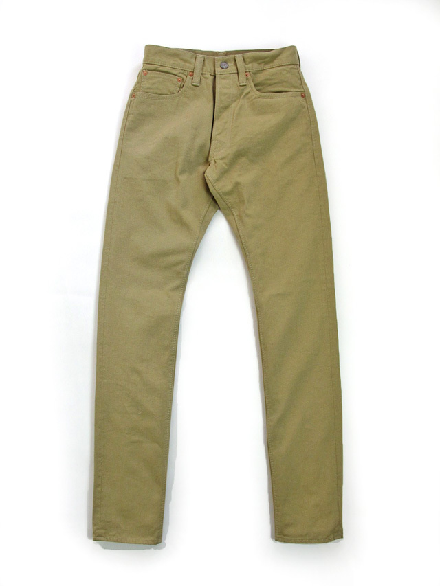 [1150] 12oz. Selvedge Chino 5-Pockets Relaxed Tapered (Beige)