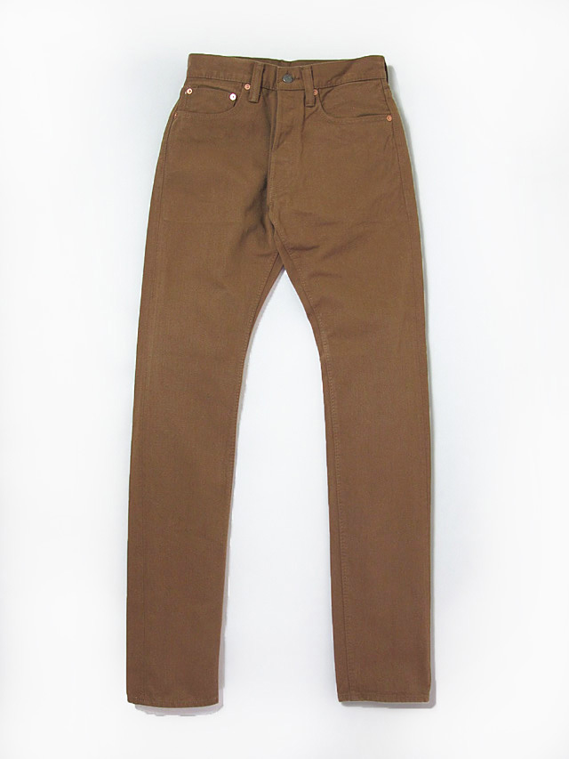 [1150] 12oz. Selvedge Chino 5-Pockets Relaxed Tapered (Camel)